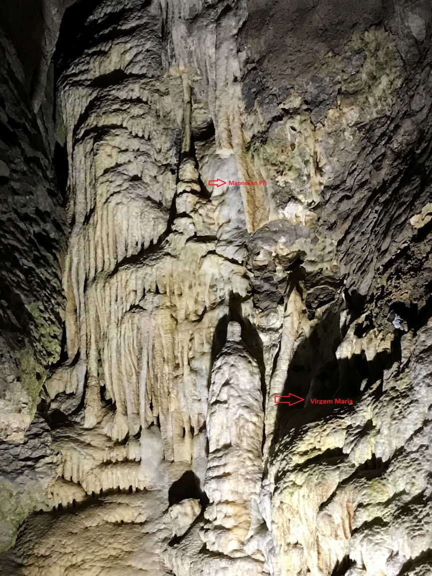 Formações no Interior das Grutas de Han | Manneken Pis e a Virgem Maria