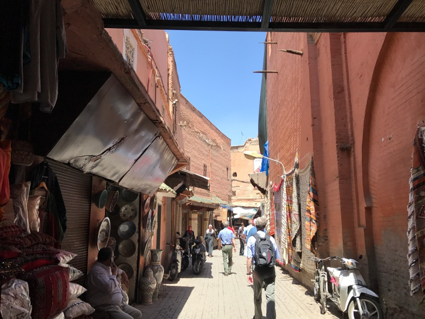 Os souks de Marrakech
