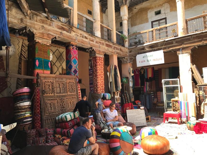 Os pequenos pátios escondidos de Marrakech