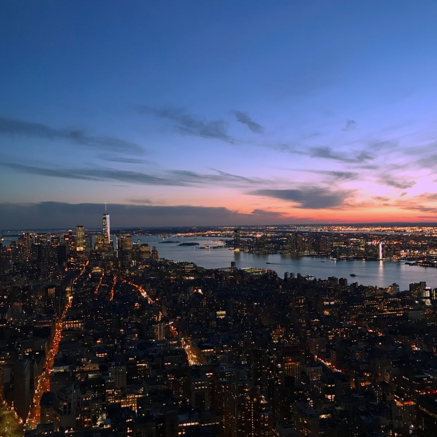 Uma das melhores vistas da cidade do topo do Empire State Building